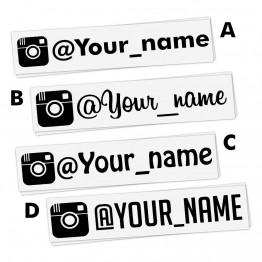 4x INSTAGRAM user name Personalized Vinyl Decal