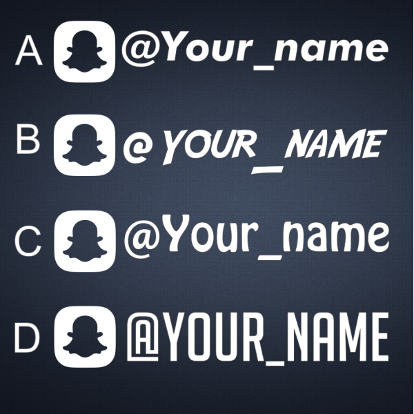 4x PLAIN CUSTOM SNAPCHAT USERNAME