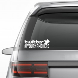 2x TWITTER username custom Decal
