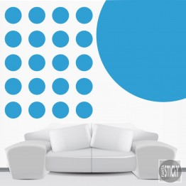Light Blue Polka Dot Wall Decals