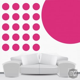 Magenta Polka Dot Wall Decals