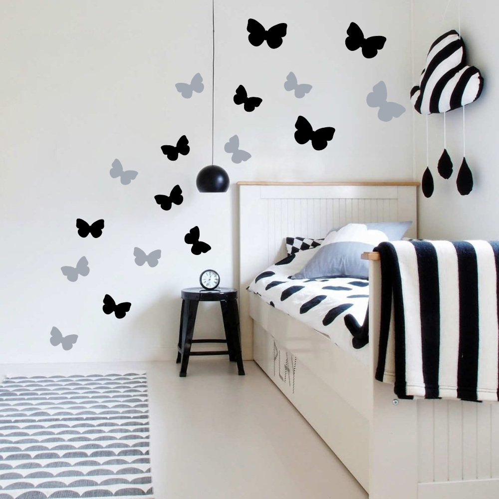 Butterflies Wall Decor Stickers - Removable, Butterfly Decals ...