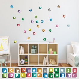 ABC Alphabet Adhesive Fabric Wall Stickers