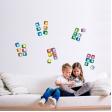 ABC Alphabet Adhesive Fabric Wall Stickers