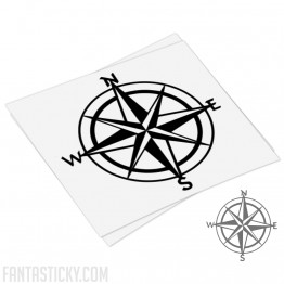 Compass rose decal