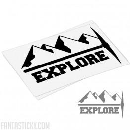 Mountains explore decal