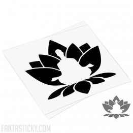 Lotus, Yoga Zen Meditation decal